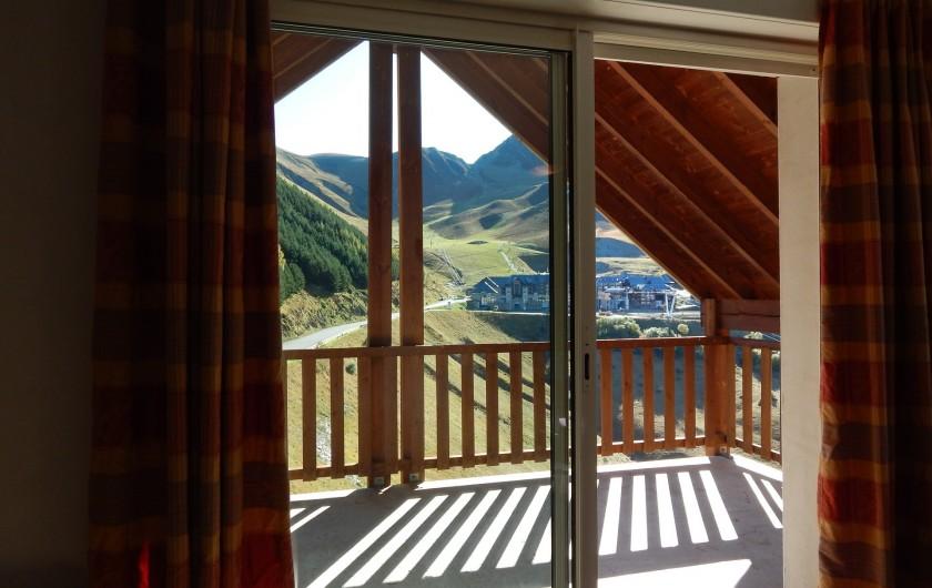 Location de vacances - Appartement à Loudenvielle - Vue de la terrasse de 12 M², l'été.