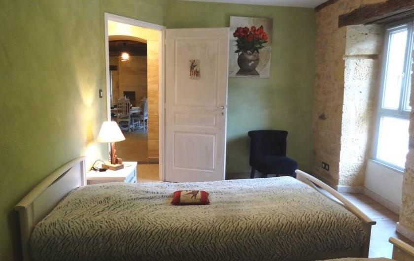 Location de vacances - Gîte à Saint-Avit-Sénieur - Chambre 2 - deux lits de 0.90m