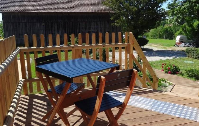 Location de vacances - Gîte à Saint-Avit-Sénieur - Terrasse Sud