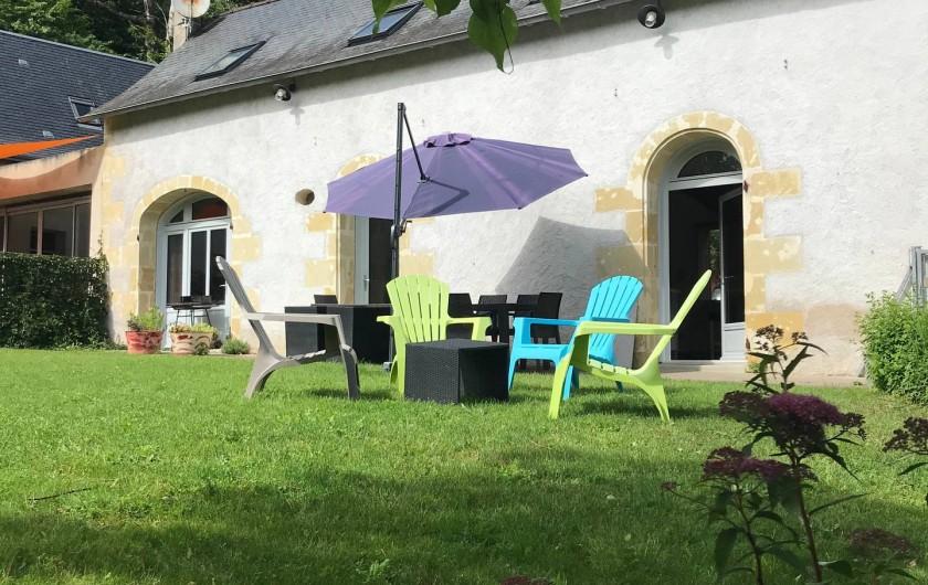 Location de vacances - Gîte à Villandry - Jardin/terrasse