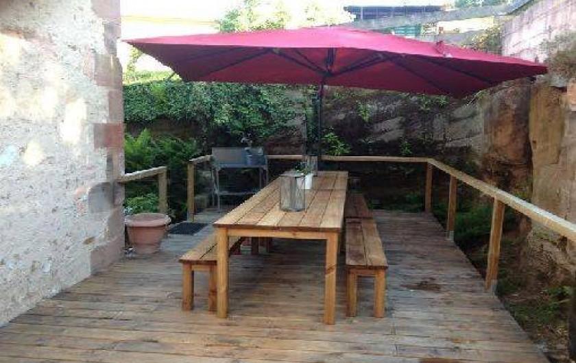 Location de vacances - Gîte à Brouvelieures - Terrasse bois