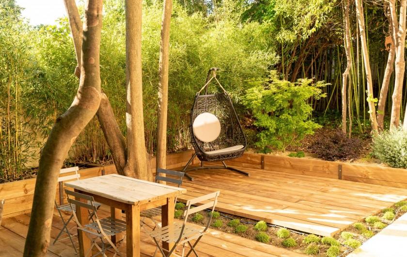 Location de vacances - Mas à Montpellier - Terrasse ambiance japonaise