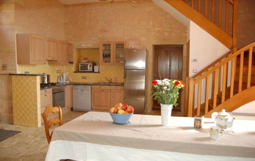 Location de vacances - Gîte à Saint-Médard-d'Excideuil - Coin cuisine gîte La Girouette