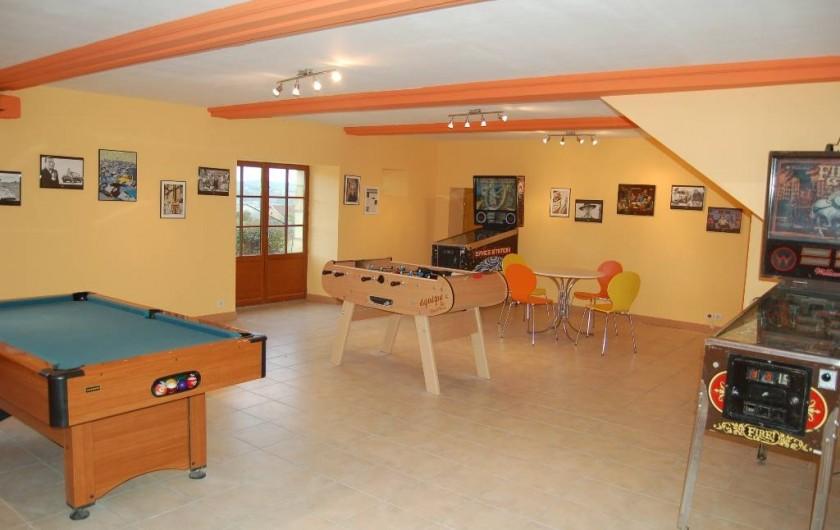 Location de vacances - Gîte à Saint-Médard-d'Excideuil - Salle de Jeux