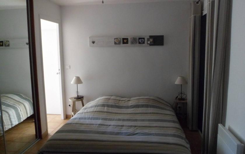 Location de vacances - Villa à Cavalaire-sur-Mer - Rez : chambre avec un lit double