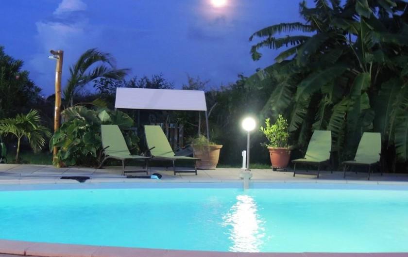 Location de vacances - Gîte à Le Moule - Piscine sous les étoiles