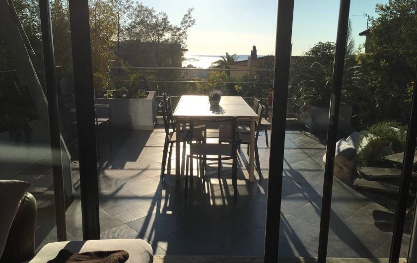Location de vacances - Villa à Cannes - terrasse