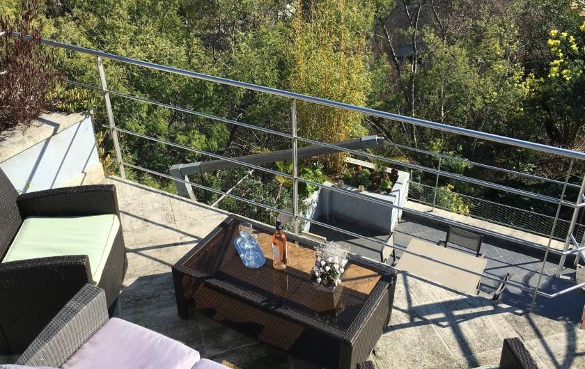 Location de vacances - Villa à Cannes - Terrasse piscine