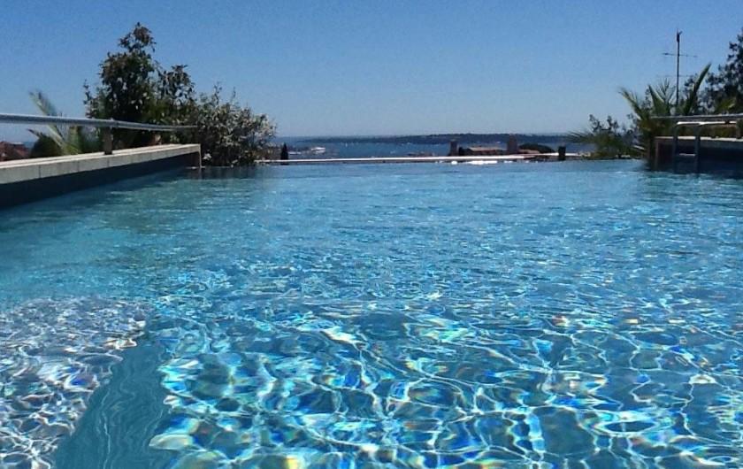 Location de vacances - Villa à Cannes - Piscine vue mer