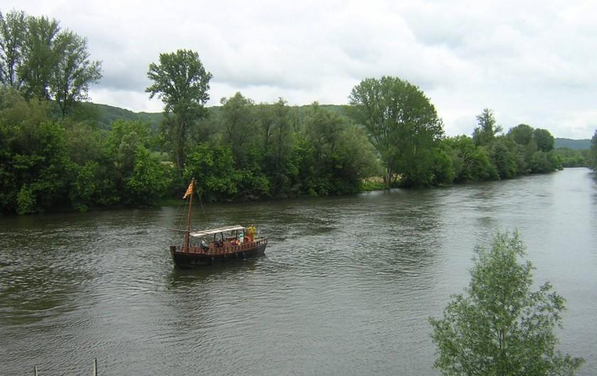 Location de vacances - Bungalow - Mobilhome à Le Buisson-de-Cadouin - Ballade en gabare sur la Dordogne