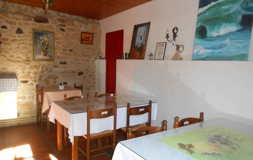 Location de vacances - Bungalow - Mobilhome à Le Buisson-de-Cadouin - Salle des petits déjeuners