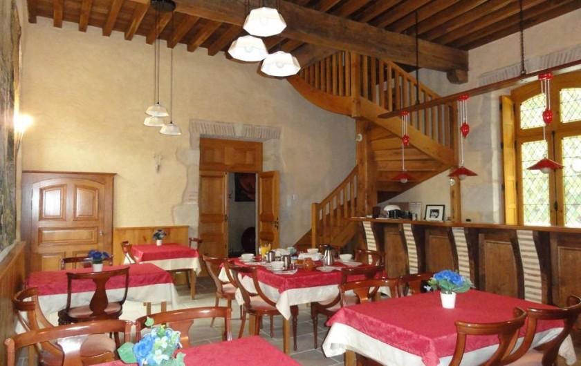 Location de vacances - Chambre d'hôtes à Saint-Pierre de Caubel - La salle des petits déjeuners