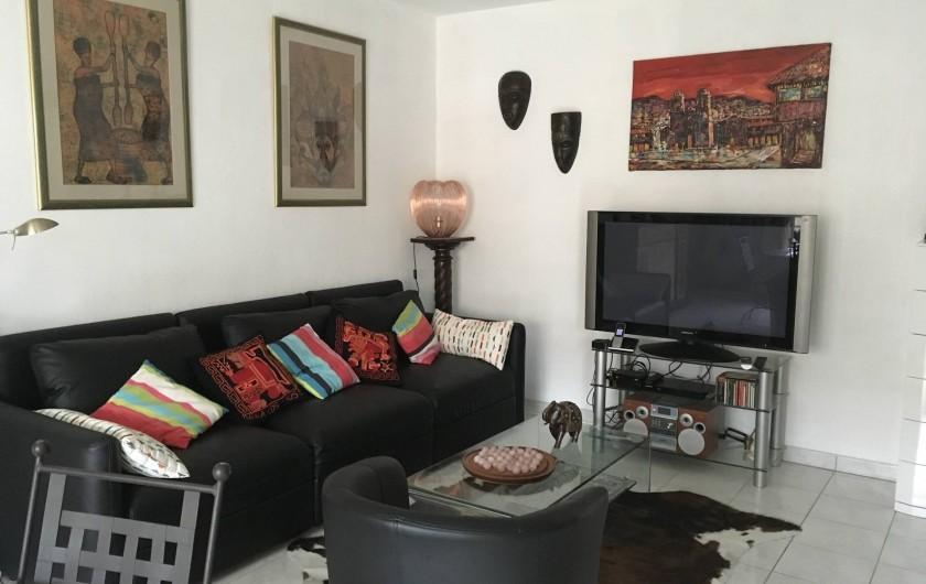 Location de vacances - Appartement à Cagnes-sur-Mer - Vue Salon