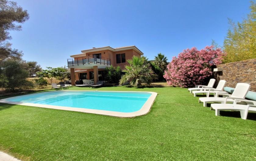 Location de vacances - Villa à Agay - plage du débarquement, l'ile d'or et le cap dramont