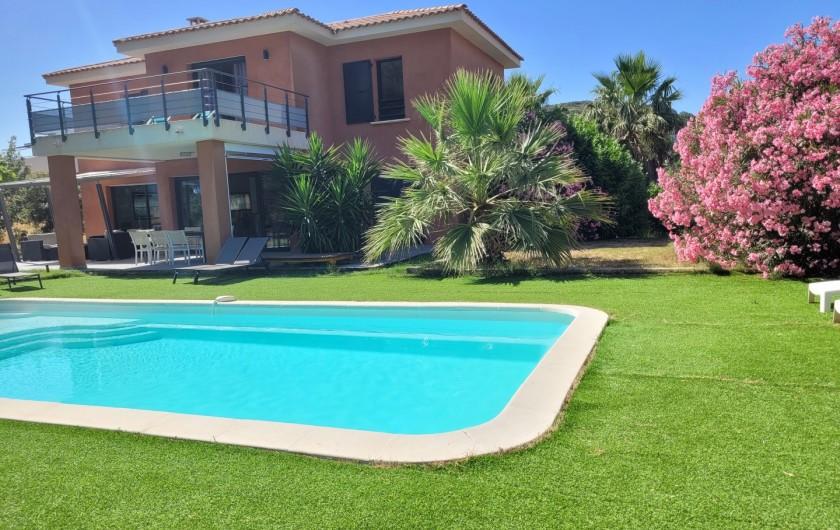 Location de vacances - Villa à Agay - salon exterieur