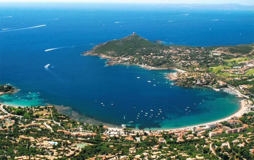 Location de vacances - Villa à Agay - baie d'AGAY et le Cap dramont