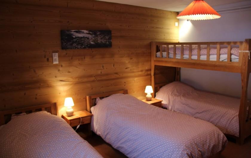 Location de vacances - Chalet à Les Gets - CHAMBRE 4 LITS - Rez-de-chaussée - 80*190 - 4 couettes 200*200