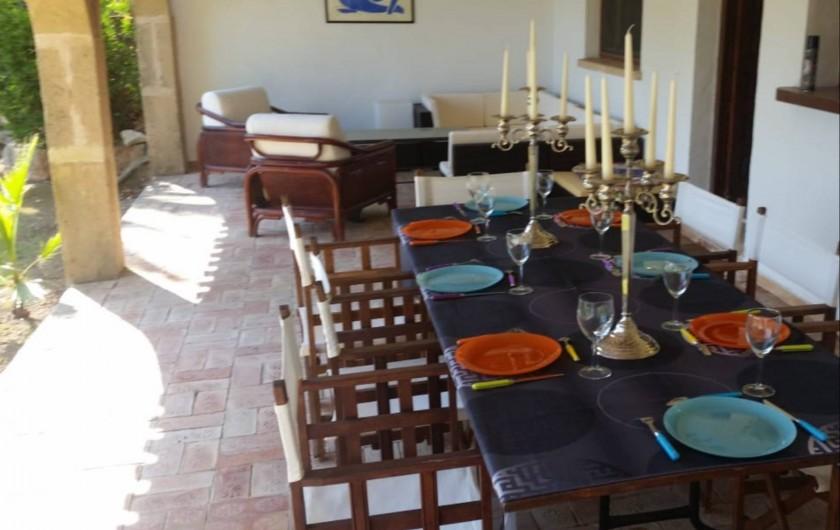 Location de vacances - Villa à Xàbia - TERRASSE DE LA DEPENDANCE