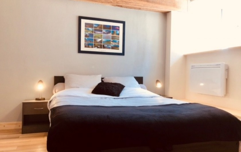 Location de vacances - Appartement à Chauvet - Chambre avec grand lit (160X200)
