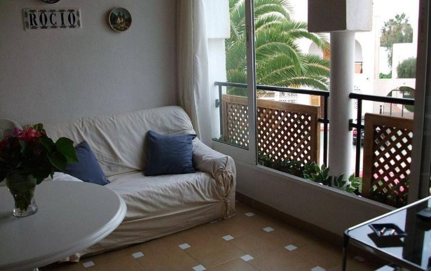 Location de vacances - Appartement à Puerto de Mazarrón - terrasse exterieur avec tv plate