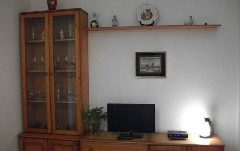 Location de vacances - Appartement à Puerto de Mazarrón - salon avec tv plate et wi-fi