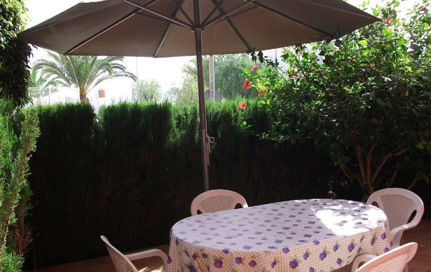 Location de vacances - Appartement à Puerto de Mazarrón - grande terrasse fermé de 18 mètres indepandnte