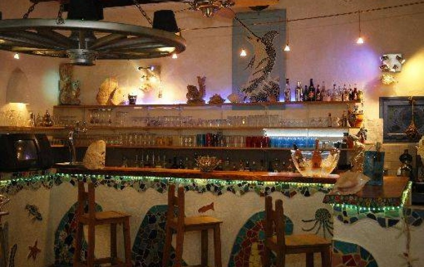 Location de vacances - Bungalow - Mobilhome à Sainte-Lucie de Porto-Vecchio - bar