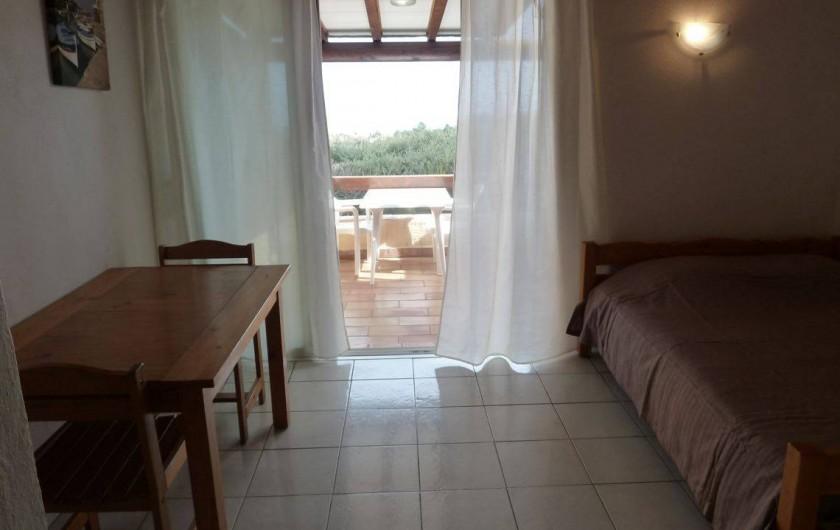 Location de vacances - Bungalow - Mobilhome à Sainte-Lucie de Porto-Vecchio - sejour studio 2 pers