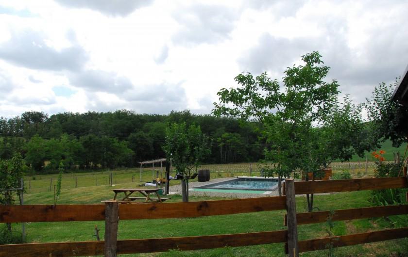 Location de vacances - Gîte à Lendou-en-Quercy - piscine coté bois
