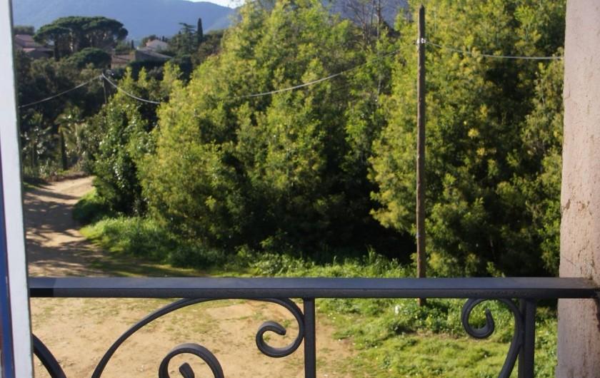 Location de vacances - Appartement à La Croix-Valmer - vue de l'appartement face au chemin d'accès