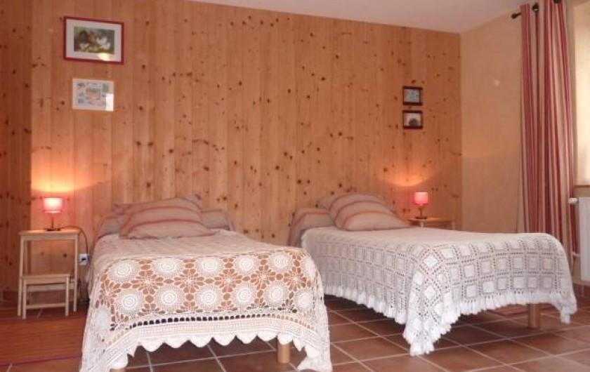 Location de vacances - Chambre d'hôtes à Saint-Laurent-d'Oingt - Chambre Sillon