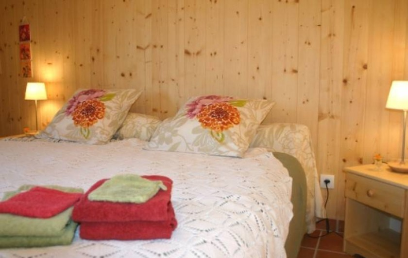 Location de vacances - Chambre d'hôtes à Saint-Laurent-d'Oingt - Chambre Boccage