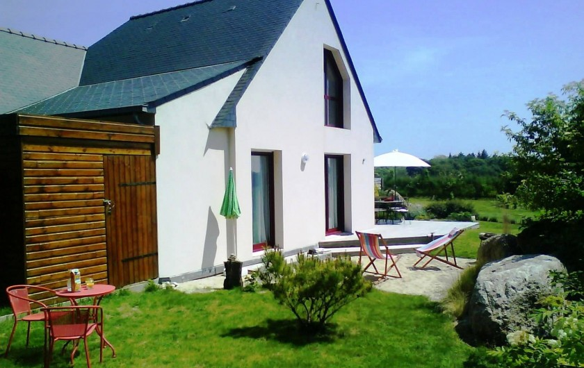 Location de vacances - Gîte à Concarneau - vue principale : sud/sud Ouest