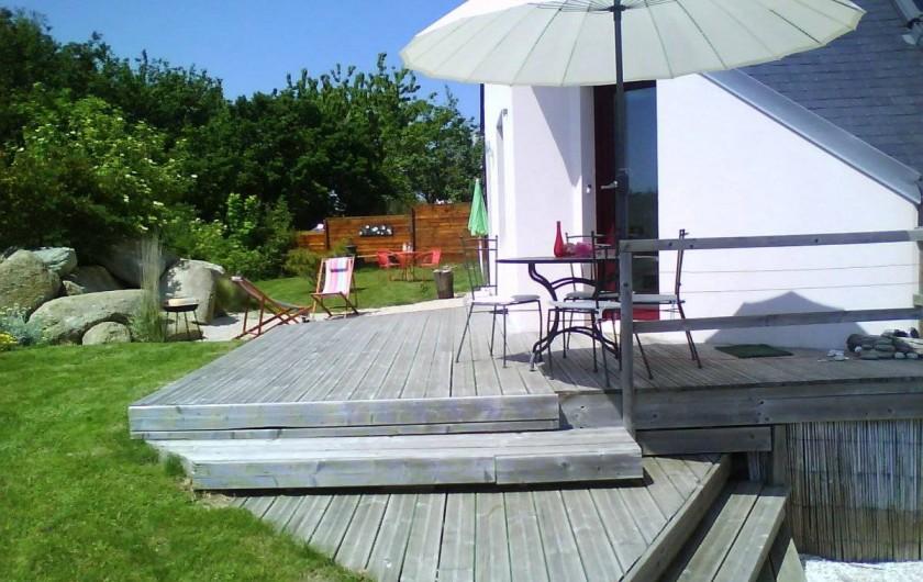 Location de vacances - Gîte à Concarneau - terrasse SUd