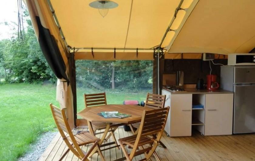 Location de vacances - Camping à Luçon - Coin cuisine Ecolodge