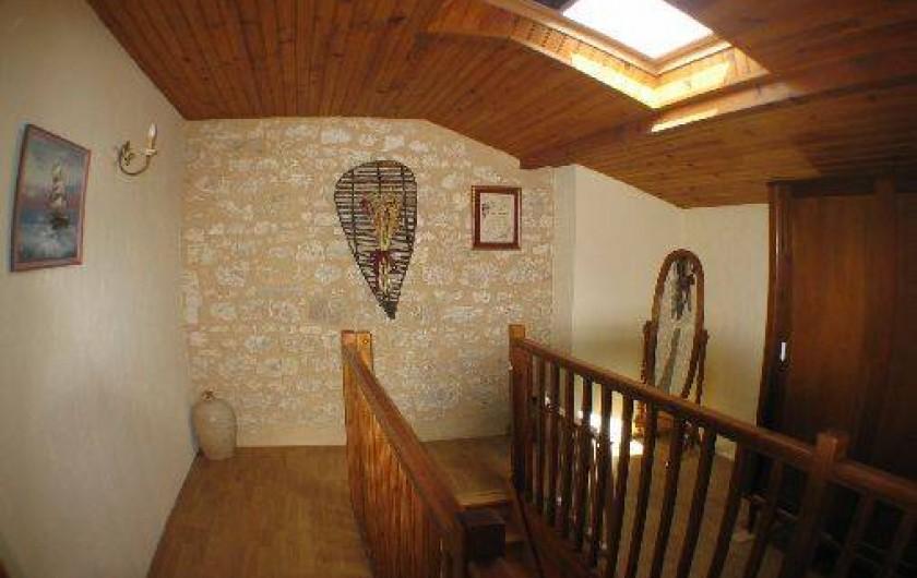 Location de vacances - Gîte à Thénac - Hall déservant les deux chambres de l'étage.