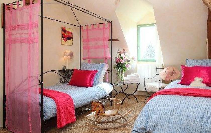 Location de vacances - Villa à Berthenay - Chambre 3 : 2 lits single