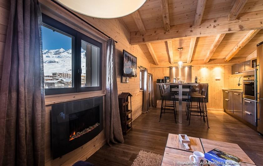 Location de vacances - Studio à L'Alpe d'Huez - Vue sur le séjour