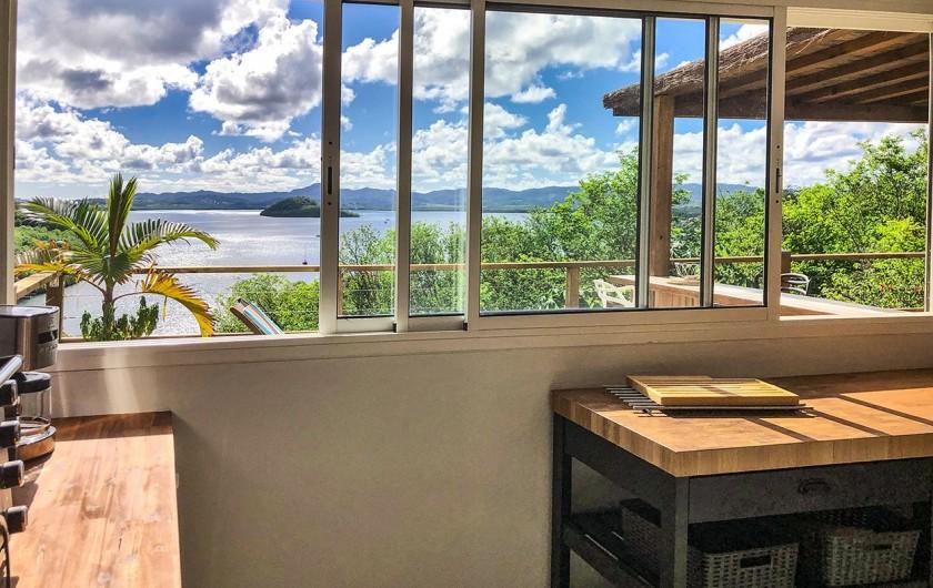 Location de vacances - Villa à Les Trois-Îlets - Vue de la Cuisine