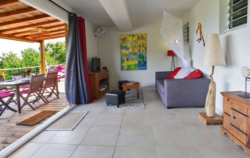 Location de vacances - Villa à Les Trois-Îlets - Sèjour/salon