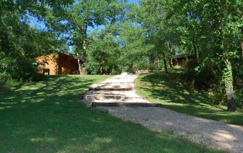 Location de vacances - Chalet à Vergt-de-Biron - L'un des accès pour aller aux chalets