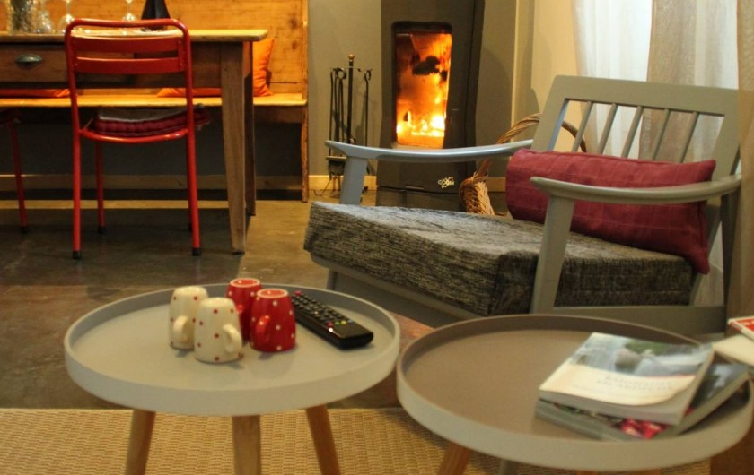 Location de vacances - Gîte à Chirols - Chambre lits jumeaux