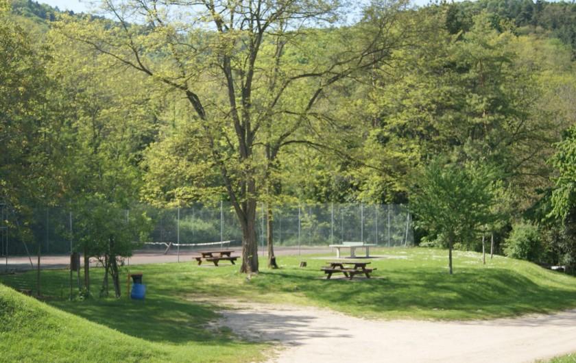 Location de vacances - Gîte à Hunawihr - Espace détente en bordure de forêt