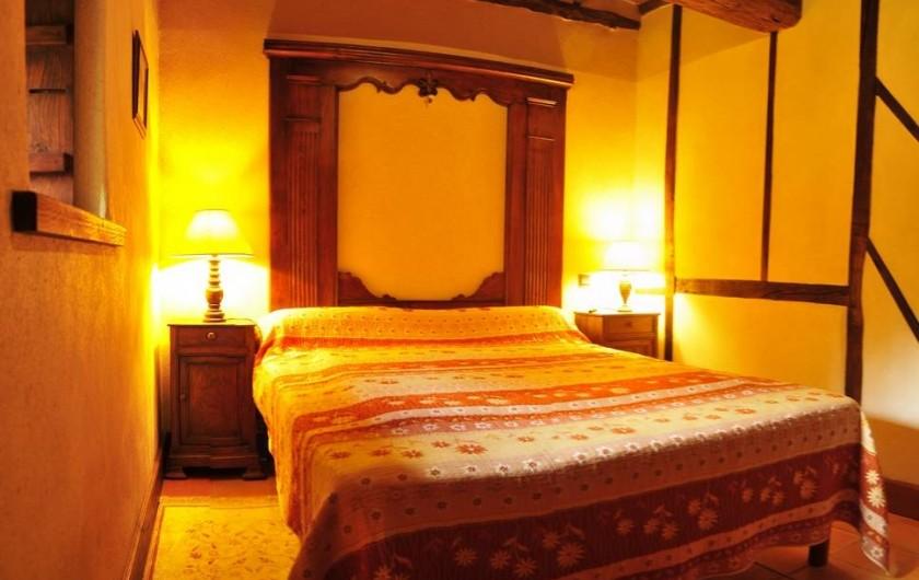 Location de vacances - Gîte à Clohars-Carnoët - La chambre parentale et ses colombages