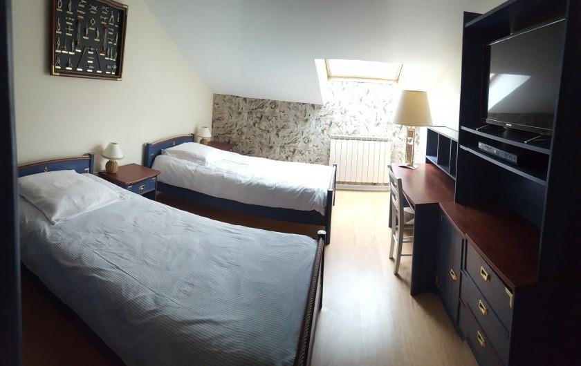 Location de vacances - Gîte à Médière - Chambre avec 2 lits simples