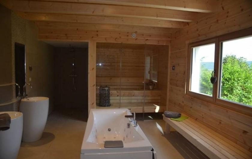 Location de vacances - Chalet à Marigny - espace bien-être sauna balnéo  chalet bien-être