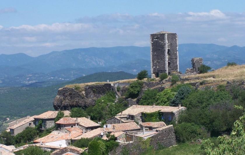 Location de vacances - Roulotte à Saint-Jean-le-Centenier - A proximité : Village de Mirabel