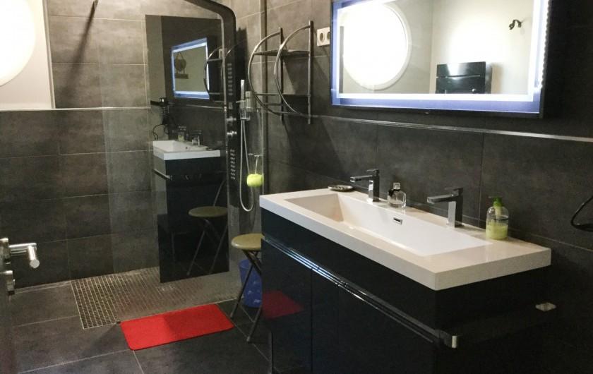 Location de vacances - Villa à Aureille - Salle d'eau avec douche et deux vasques