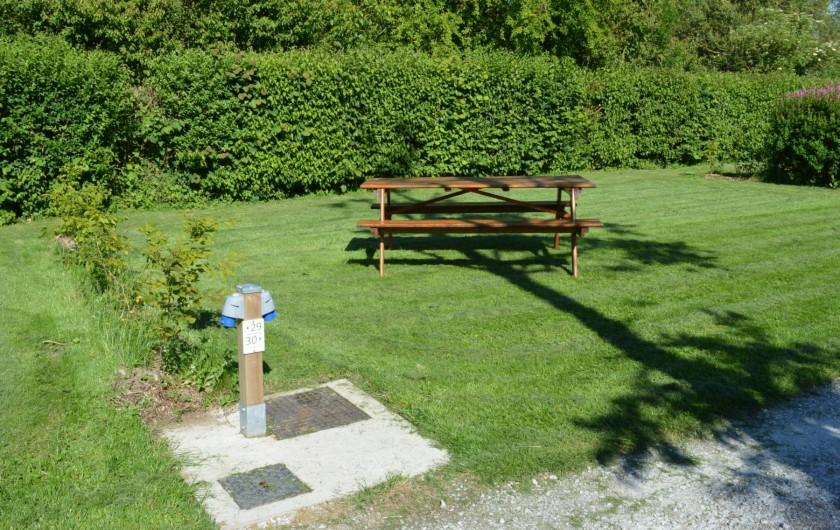 Location de vacances - Bungalow - Mobilhome à Aire-sur-la-Lys - Emplacement de camping pour tentes caravanes et camping car