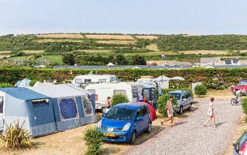 Location de vacances - Bungalow - Mobilhome à Surtainville - Emplacement camping, tentes, caravane, camping car.